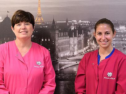 Dental Hygienists Nancy and Mel