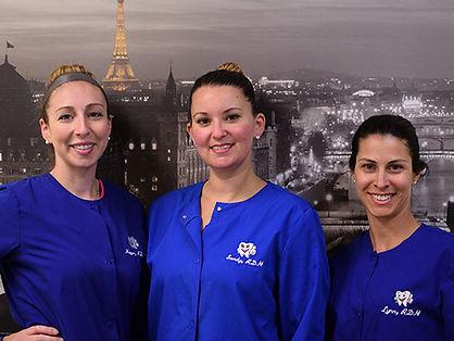 Dental Hygienists Megan, Sandy, and Lynn