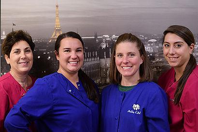Dental Assistants Janet, Alex, Hollie, and Nicole