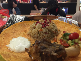 Uyghur Lamb Platters in New World Mall Food Court