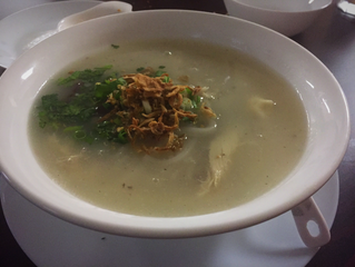 Nam Khao + Other Crispy Treats (minus blood cubes) at Laos Cafe