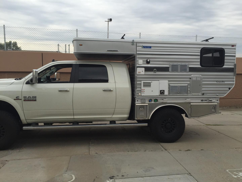 Grandby Flat bed Model on a Dodge Ram 25