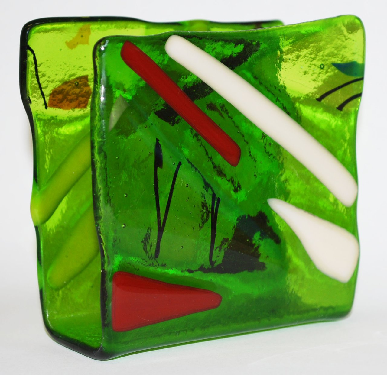 clear green napkin holder