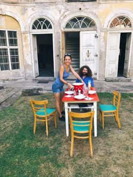 Petra Horváthová se svým kamarádem Jirkou obstarávali kuchyni pro naše hrdiny.