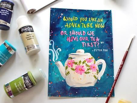 Tea Art Printable + Plum Deluxe Tea Review