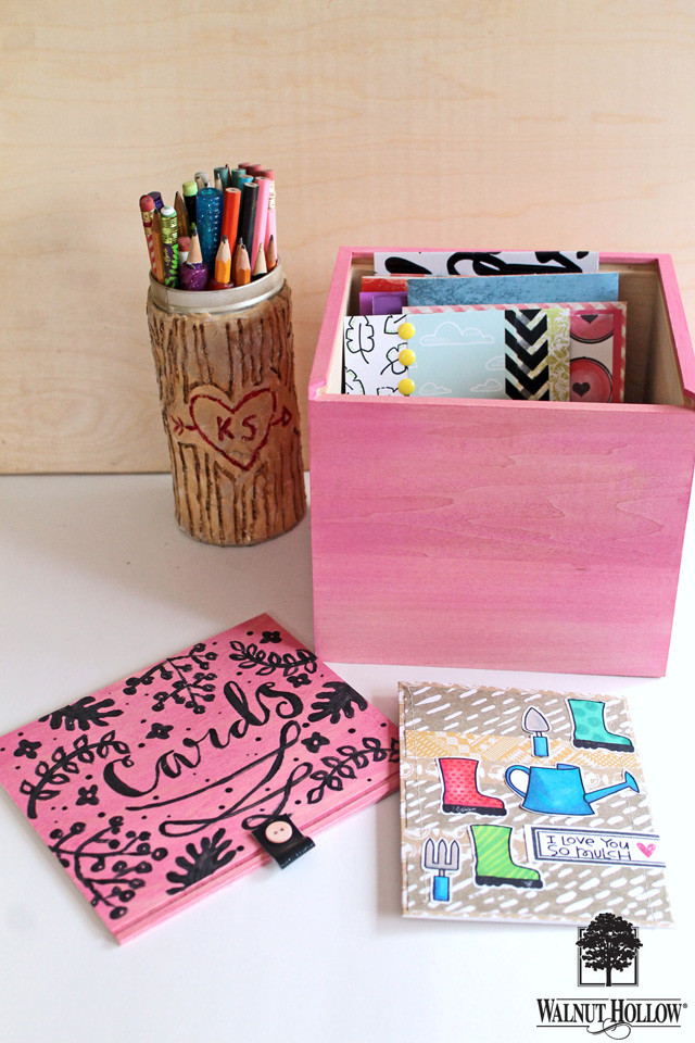 Organize your studio with these bright painted boxes! tutorial by @punkprojects on the @walnuthollow1 blog