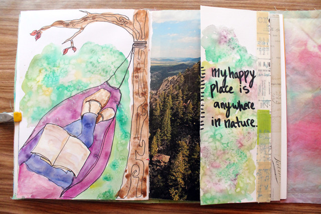 Happy Place | art journal page by @punkprojects
