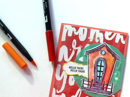 Easy Faux Watercolor Look using Markers