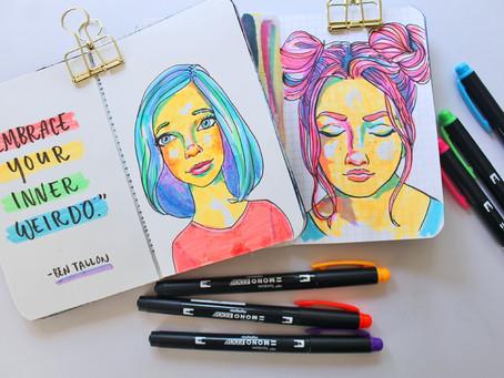 Easy Highlighter Drawings