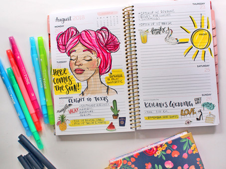 My Top 5 Tips for Sketching in Your Planner