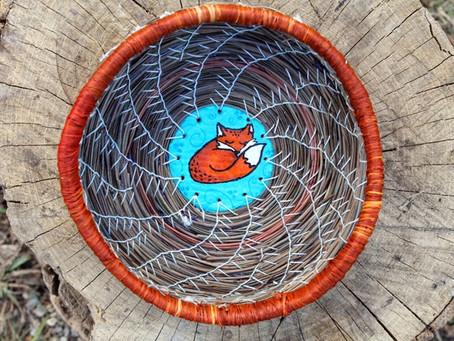 Woodland Animal Inspired Pine Needle Baskets
