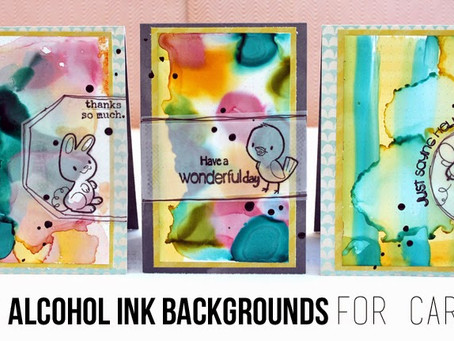 DIY Alcohol Ink Backgrounds for Cards