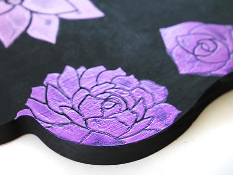DIY Enchanted Iridescent Stenciled Tray