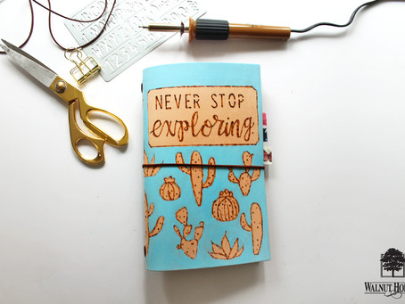 How to Burn a Design into Leather Traveler's Notebooks