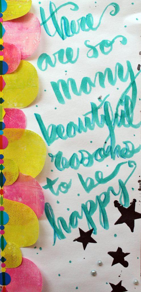 Beautiful Reasons | Art Journal page by @punkprojects