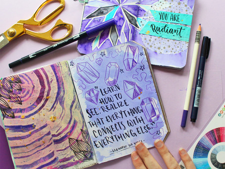 Pantone Color of the Year: Ultra Violet Art Journal Pages
