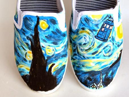 Custom Starry Night Shoes