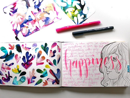 Get Messy – Taking the Heart Journal Class