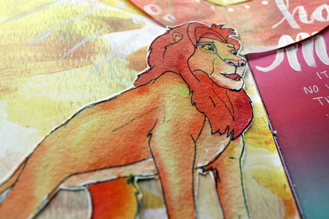 Hakuna Matata   Art journal page by @punkprojects Katie Smith