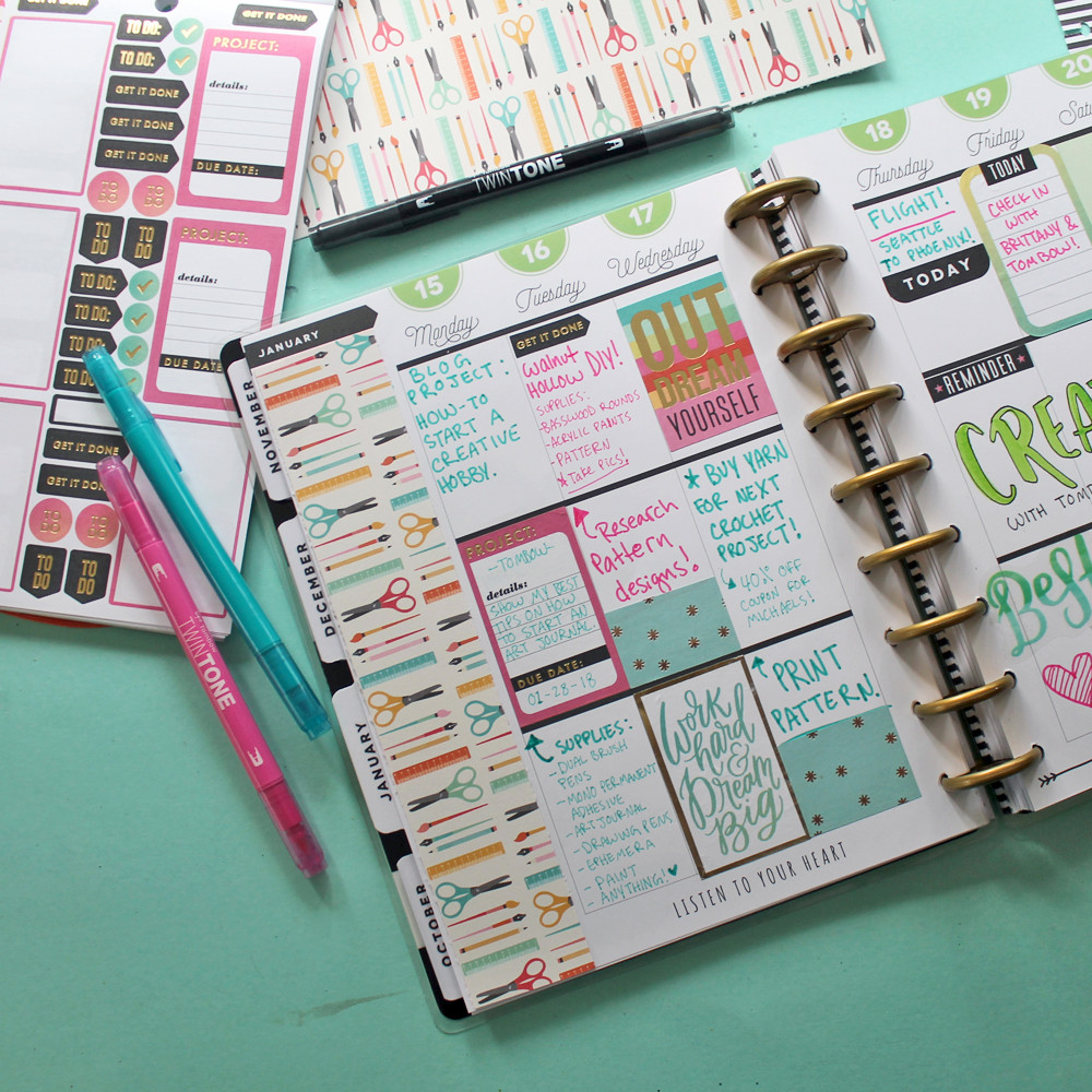 How to use a Planner for your Crafts! by @studio.katie