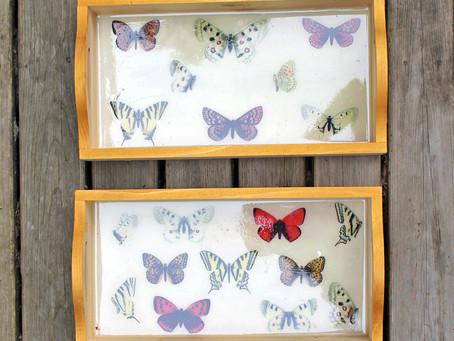 DIY Butterfly Resin Tray