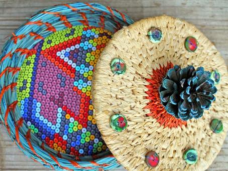 Wanderlust Pine Needle Basket