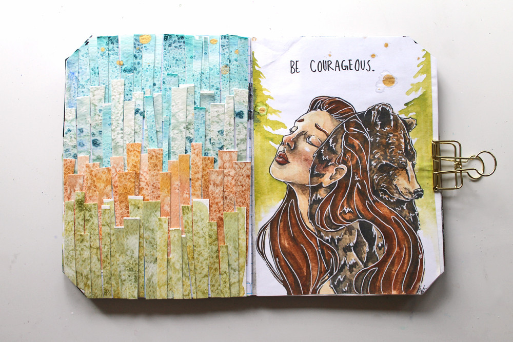 Courageous Art Journal By Katie Smith