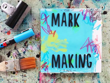 A Mark Making Art Journal Zine