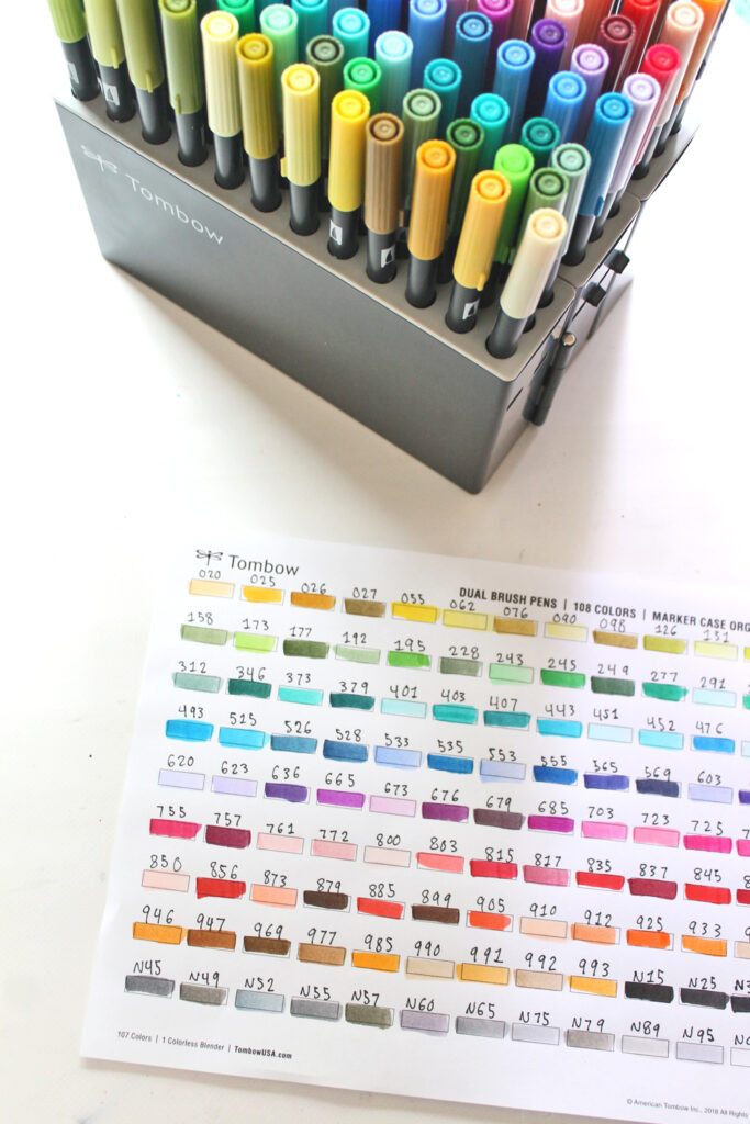 organize your Tombow Dual Brush Pens & Learn what those numbers on the side of each marker mean! @tombowusa @studio.katie