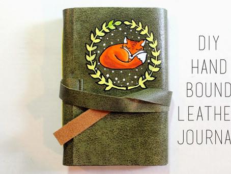 DIY Hand Bound Leather Journal