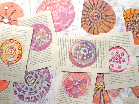 How to Make Gelli Print Mandalas