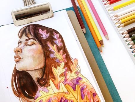 Autumn Illustration Art Journal