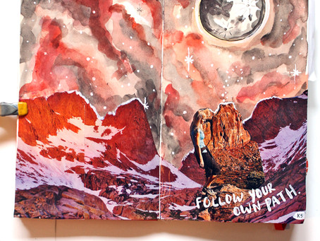 20+ Art Journal Galaxies to Inspire