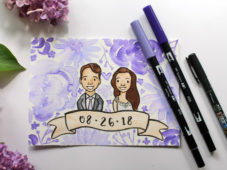 DIY Wedding Couple Portrait