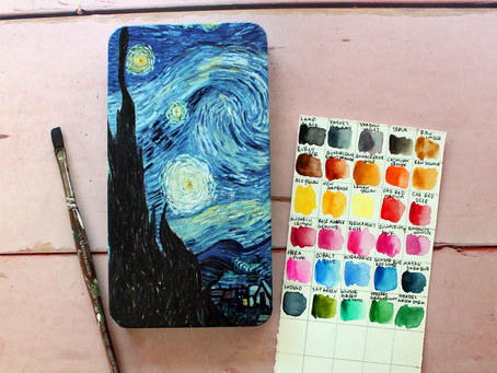 How to Swatch your Watercolor Pan Set