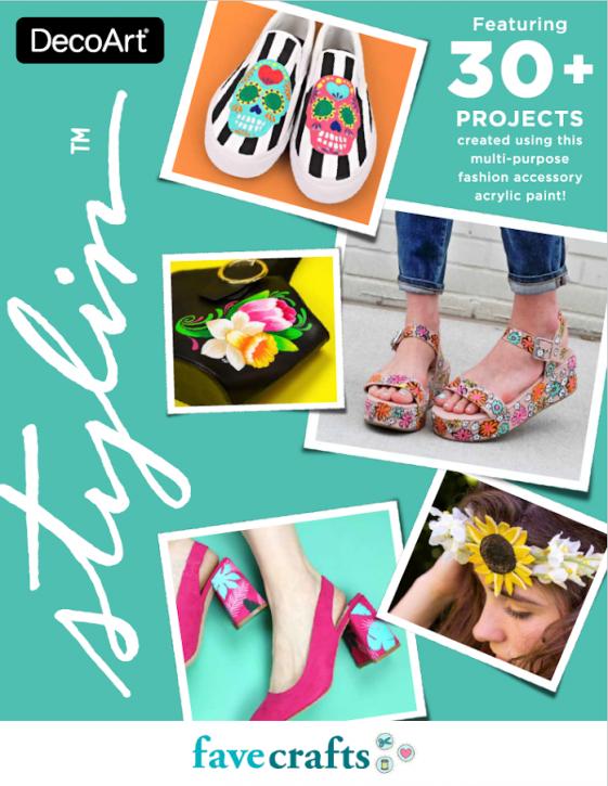 DecoArt Stylin Ebook Featuring 30+ Shoe & Accessory Projects