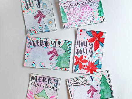 DIY Christmas Postcards