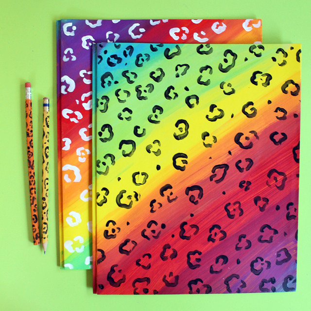Make your own Lisa Frank inspired file folders and school supplies!