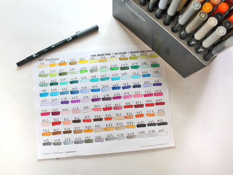 How to Organize Your Tombow Dual Brush Pens + What those numbers on the side mean: