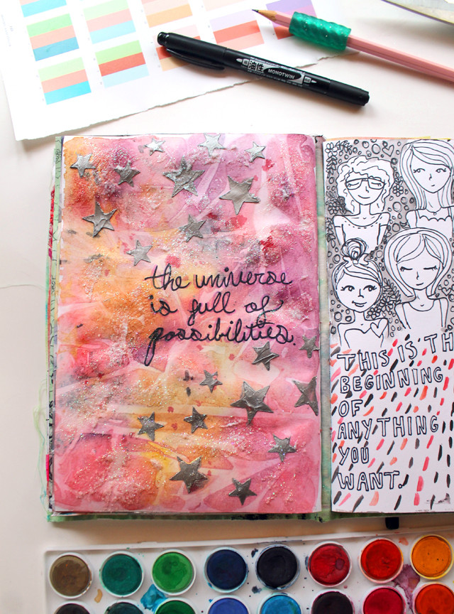 Possibilites   An art journal page by @punkprojects Katie Smith