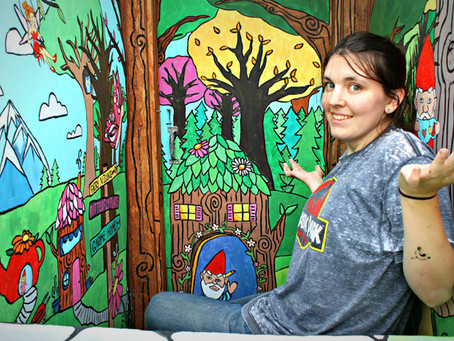The Magical Gnome Forest Mural