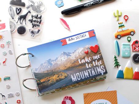 Celebrating National Scrapbok Day! – Mountains Mini Album