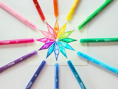 Easy Rainbow Geometric Art