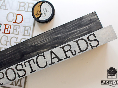 Easy Postcard Display Shelf DIY