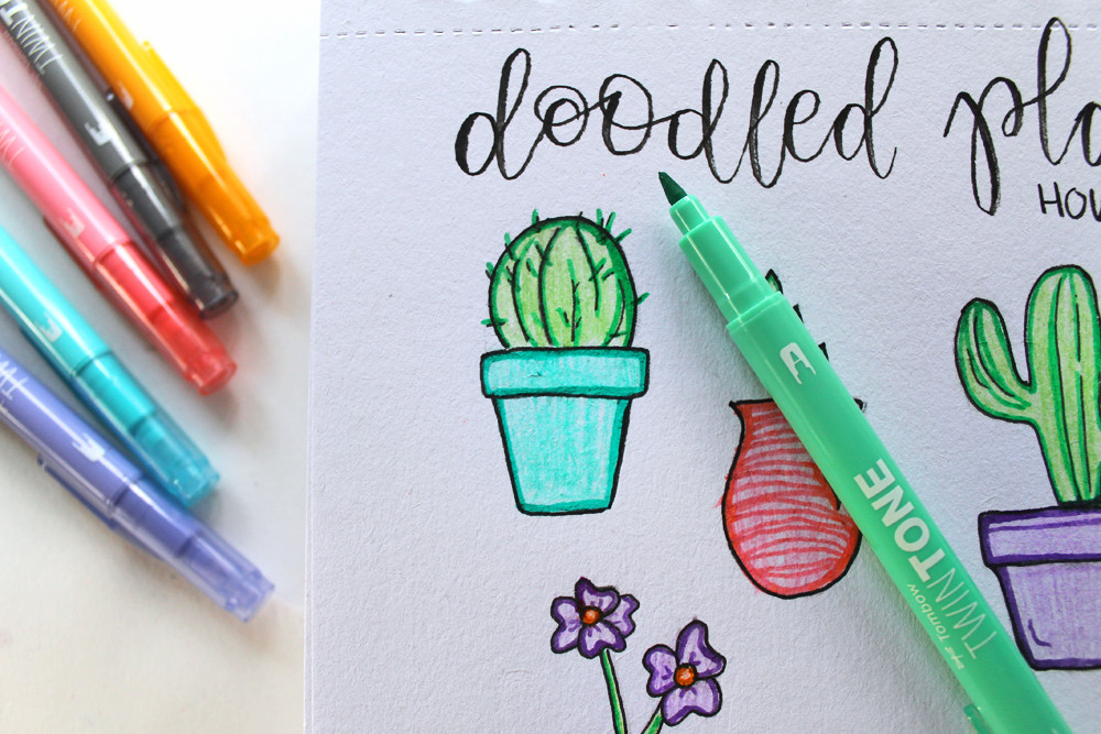 Learn how to doodle plants using this tutorial by @Studiokatie and @tombowusa