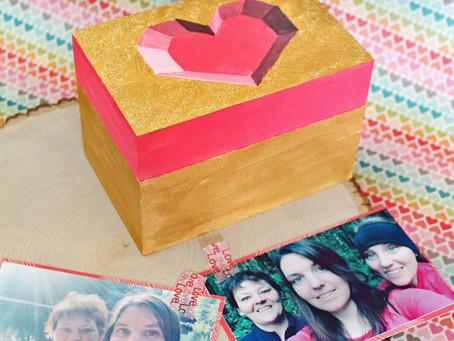 DIY Geometric Heart Wooden Box