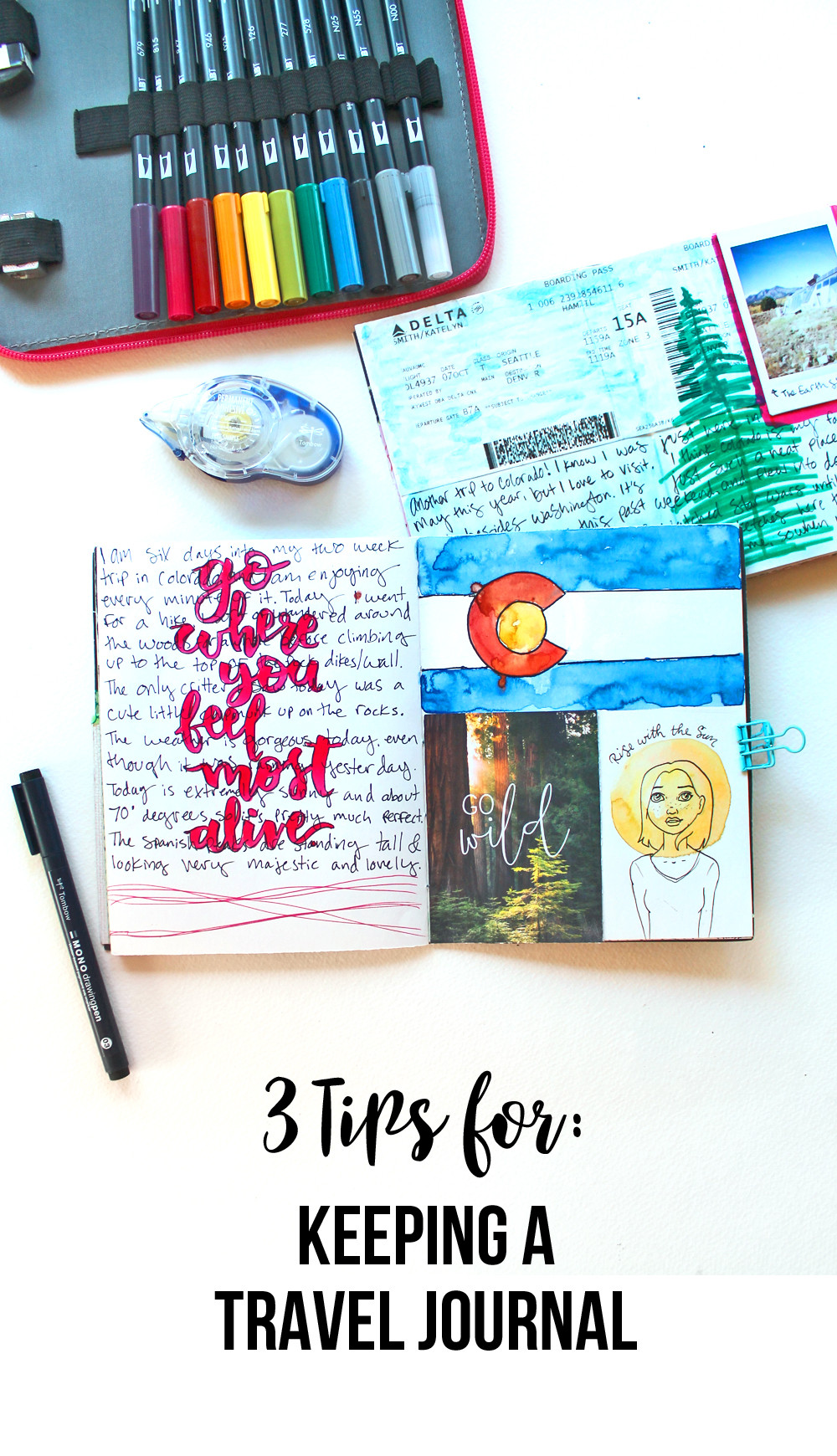 My top 3 tips for keeping a travel journal! by @studio.katie and @tombowusa