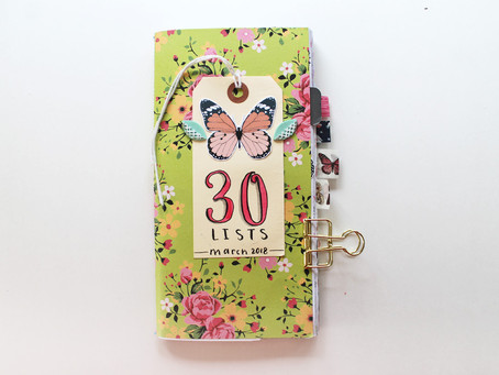 My Completed 30 Days of Lists Journal – March 2018