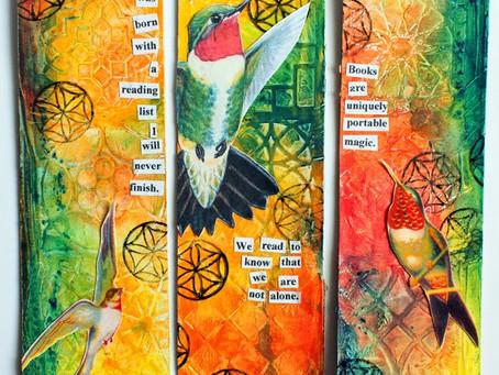 Hummingbird Bookmarks DIY