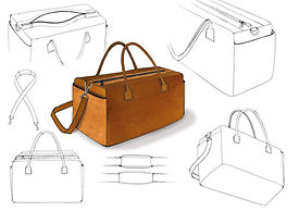 first drawing RM01 travel bag collection